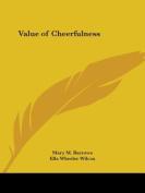 Value of Cheerfulness (1904)