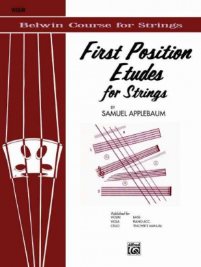 First Position Etudes for Strings: Violin (Belwin Course for Strings)