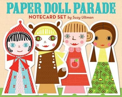 Paper Doll Parade Notecard Set by Suzy Ultman