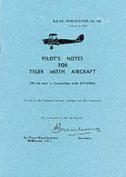 Pilot's Notes for Tiger Moth Aircraft