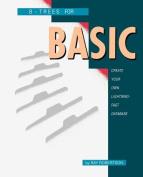 B-Trees for BASIC