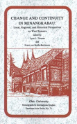 Change and Continuity in Minangkabau
