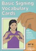 Basic Signing Vocabulary Cards