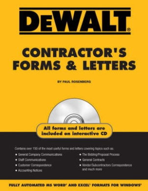 Dewalt Contractor's Forms & Letters [With CDROM]