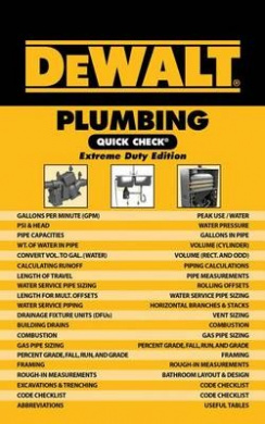 Dewalt Plumbing Quick Check: Extreme Duty Edition