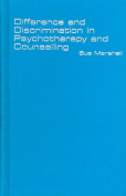 Difference and Discrimination in Psychotherapy and Counselling