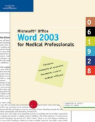 Microsoft Office Word 2003 for Medical Assisting?