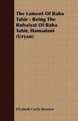 The Lament of Baba Tahir