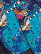 Smythe Sewn Fantastic Felines Blue Cats and Butterflies Lined