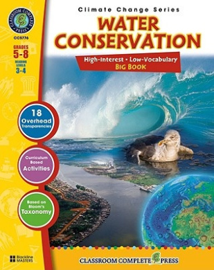 Water Conservation-Big Book, Grades 5-8: Reading Levels 3-4 [With 18 Overhead Transparencies]