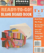 """Ready to Go!(R) Blank Board Book 5"""" X 3"""" Tag 2 Pack"""