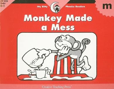 Monkey Made a Mess (Itty Bitty Phonics Readers)