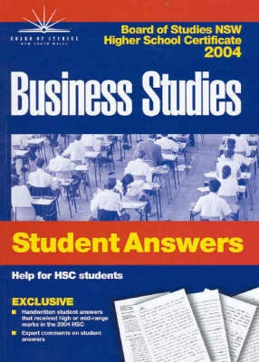 Business Studies: 2004: HSC Students Answer Books