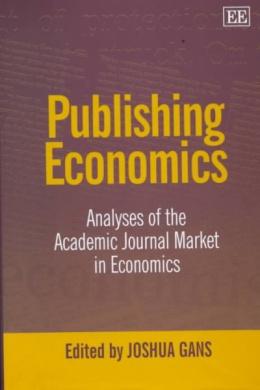 Publishing Economics: Analyses of the Academic Journal Market in Economics