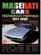 Maserati Cars Performance Portfolio 1971-1982