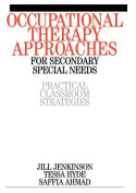 Occupational Therapy Approaches for Secondary Special Needs