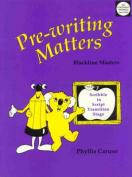 Pre-Writing Matters
