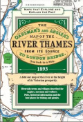 The River Thames Map from the Source to London 1893