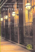 Archaeological Institute of America Annual Meeting Abstracts