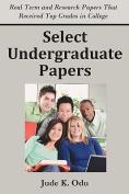 Select Undergraduate Papers
