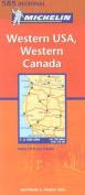 Michelin Map USA Western, Western Canada 585