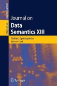 Journal on Data Semantics XIII
