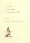 Care & Conservation of Manuscripts [GER]