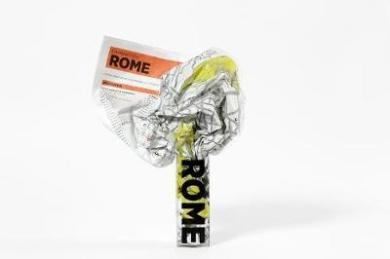 Rome (Crumpled City Map)