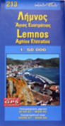 Map of Limnos Island