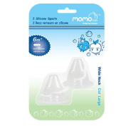 Momo Baby Wide Neck 2-Pack Silicone Spouts
