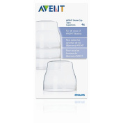 Avent 4-Pack Bottle Dome Caps