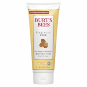 Burt's Bees Fragrance Free Body Lotion for all Skin Types, Shea Butter & Vitamin E 180ml