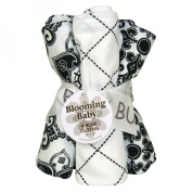 Trend-Lab 21104 Versailles Black & White Bottle Bag And Burp Cloth Set