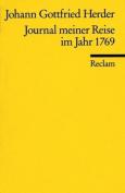 Journal Meiner Reise Im Jahre 1769/Johann Gottfried Herder