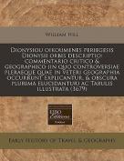 Dionysiou Oikoumenes Periegesis Dionysii Orbis Descriptio