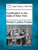 Codification in the State of New York.