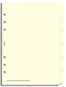 Filofax A5 Indices Blank 6 Tabs Cream