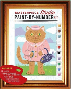 Masterpiece Studio Paint-By-Number Kit [With 5 Paint-By-Number Boards, Organizer Tray and Paint Brush and 10 Pots of Acrylic Paint]