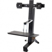 Ergotron WorkFit-S 33-341-200 Dual Sit-Stand Workstation - Steel, Plastic, Aluminium - Black