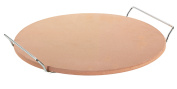 Pizza Stone With Rack 33cm Natural With SS Cutter