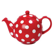 Teapot Red & White Spots 2 Cup