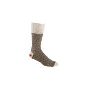 Red Heel Monkey Socks 2pr/Pkg-Size 10-11 Large Brown Heather