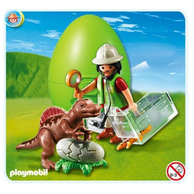 Playmobil scientist with baby dinosaur by playmobil shop - Dinosaur playmobile ...