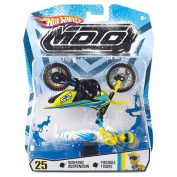 Hot Wheels Motorcycle with Rider Action Figure - #25 White and Yellow Rider
