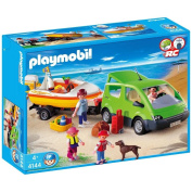 Playmobil- 4144 Family Van with Boat and Trailer