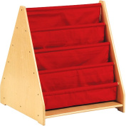 Guidecraft Canvas Double-Sided Book Display Unit - Red