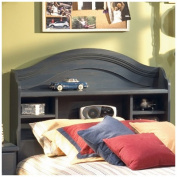 South Shore Twin Bookcase Headboard - Blueberry