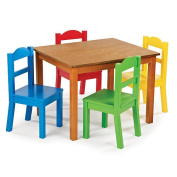 Tot Tutors Table & Chair Set - Dark Pine