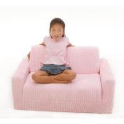 Fun Furnishings Micro Suede Sleeper Sofa - Pink