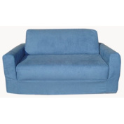 Fun Furnishings Micro Suede Sleeper Sofa - Blue